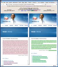 Versionista Obama Diff