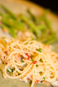 Spicy Crab Pasta with Preserved Lemon